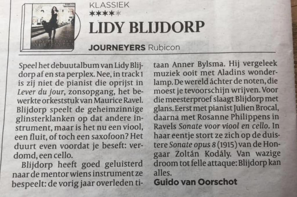 review Lidy Blijdorp Volkskrant